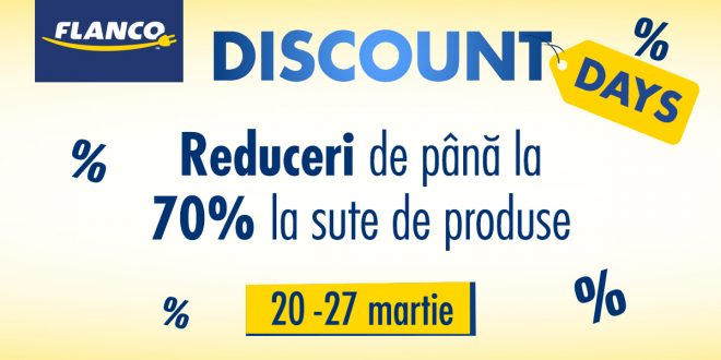 Discount Days la Flanco. 70% reduceri in martie 2017