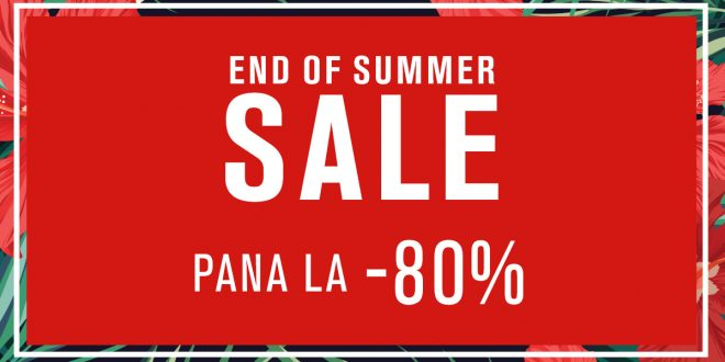 Fashion Days END OF SUMMER – 80% reducere